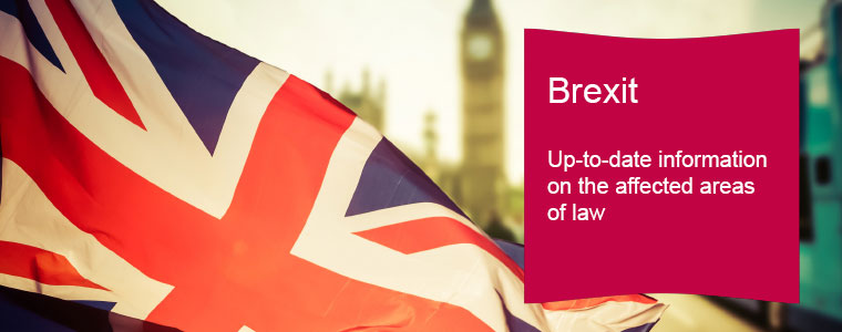 Brexit, Up-to-date information on the affected areas of law