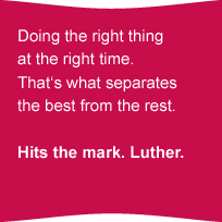 Doing the right thing at the right time.That's what seperates the best from the rest.